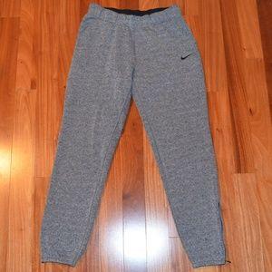 Nike fleece zipper ankle joggers